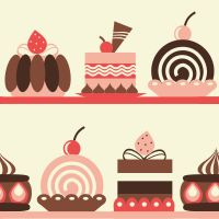 Patterns /Backgrounds/ Fundos doces