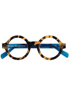 1cef65bc19ae Ross FinocchioEyewear · Silver Line Bold Round Frame in Light Tortoise with  Blue Temples Frames For Round Faces