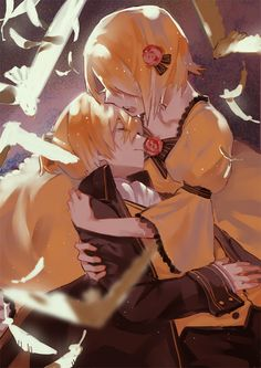 Rin and Len Kagamine, Daughter and Servant of Evil -- Both songs are sad. ;_;