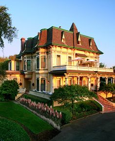 Dry Creek Valley California  Victorian mansion and estate