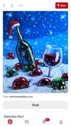 Xmas and wine Christmas Canvas, Christmas Paintings, Christmas Art, Xmas, Wine Painting, Pallet Painting, Diy Canvas, Canvas Art, Wine And Canvas