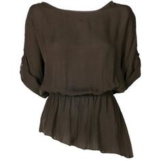 tristan top with leather detail