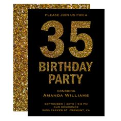 Shop Faux Gold Glitter Birthday Party Invitation created by ShabzDesigns. Personalize it with photos & text or purchase as is! 40th Birthday Parties, 50th Birthday Party, Mom Birthday, Create Your Own Invitations, Custom Invitations, Invites, Glitter Text, Gold Glitter, 60th Birthday Party Invitations