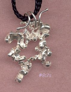 Items similar to Sterling Silver Pendant .Cast Over Beans on Etsy-- Items similar to Sterling Silver Pendant …Cast Over Beans on Etsy Silver Pendant Necklace, Pendant Jewelry, Sterling Silver Bracelets, Sterling Silver Necklaces, Silver Jewellery, Silver Rings, Silver Casting, Metal Clay Jewelry, Schmuck Design