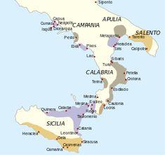 La filosofia en magna Grecia sur de Italia Sicilia - Los griegos mostraron predilección por el golfo de Tarento, frente al cual se ubicaron varias de las principales ciudades de la Magna Grecia (Tarento, Síbaris y Crotona).