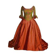 Tumblr ❤ liked on Polyvore featuring dresses, gowns, long dresses, medieval and medieval dress