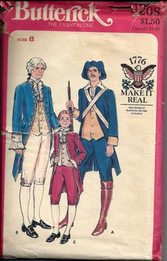 Boys Military and Statesman Costume Pattern by DawnsDesignBoutique, $18.00