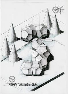 dodecahedron project by dedeyutza on DeviantArt Layout, Basic Shapes, Optical Illusions, Pencil Drawings, Zentangle, Things To Come, Sketches, Concept, Deviantart