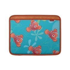 Nemo Teal Pattern MacBook Air Sleeves