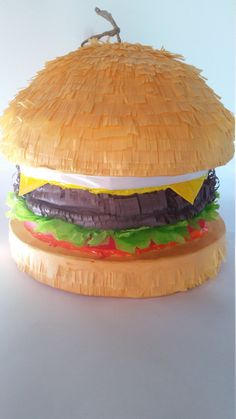 Delicious Burger Pinata Inspired By by PinataDesignStudio on Etsy