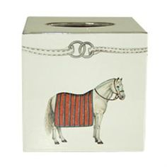 """This lovely tissue box is part of the Devon collection.  The tissue box measures 6"""" X 6"""" X 6""""H.  Product in photo is from www.wellappointedhouse.com"""