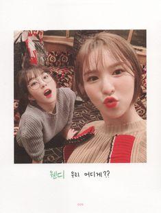 Selfie Book (Sweet Holidays in Swiss) 💗💙 Wendy Red Velvet, Red Velvet Joy, Red Velvet Irene, Seulgi, Kpop Girl Groups, Kpop Girls, Asian Music Awards, Velvet Wallpaper, Types Of Fashion Styles