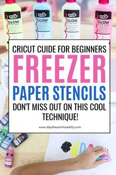 Cricut Stencils, Stencil Diy, Cricut Vinyl, Cricut Tutorials, Cricut Ideas, Freezer Paper Stenciling, Circuit Crafts, How To Make Stencils, Card Making Tips