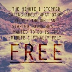 Finally free...