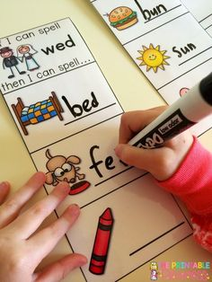 """CVC Practice.. """"If I Can Spell..."""" Love how this has built confidence in my kids! If they can spell """"bed"""" then they can spell fed and red too."""