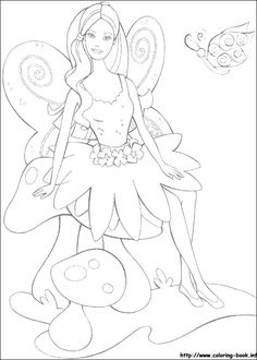 Barbie Fairy Coloring Picture