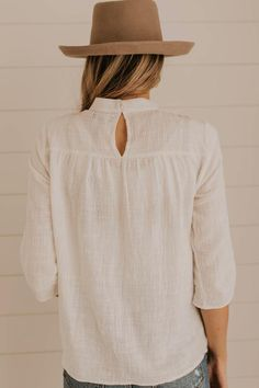 Simple Ivory Blouse
