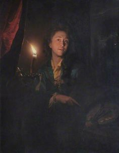 Self Portrait by Candlelight by Godfried Schalcken