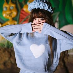 Japanese Cute Cupid High Neck Knit Sweater Sweet Heart Pullover MG695 sold by Mori Girl の森ガール	. Shop more products from Mori Girl の森ガール	 on Storenvy, the home of independent small businesses all over the world.