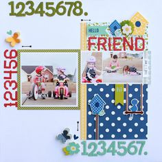Pebbles' Family Ties collection. They used the template to create this layout.