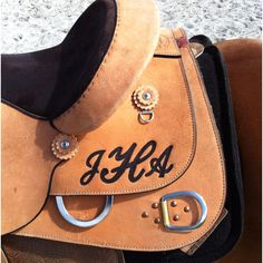 Monogrammed saddle- perfect for a work saddle! I love this! I couldn't find any info on where this photo came from. I would love to find out more though!
