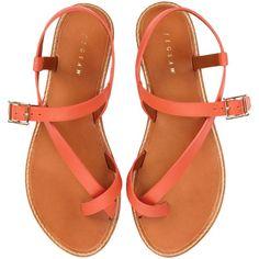 Jigsaw Marina Leather Sandals , Orange found on Polyvore