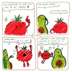 ~ AcT ~ 2 #aguacatecontomate #aguacate #tomate #comic #humor