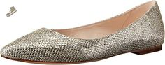 Cole Haan Women's Tartine Skimmer Ballet Flat, Gold/Silver Glitter, 5 B US - Cole haan flats for women (*Amazon Partner-Link)