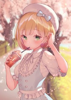 Anime# I love milk tea Anime Neko, Cute Anime Chibi, Chica Anime Manga, Cute Anime Pics, Cool Anime Girl, Pretty Anime Girl, Anime Love, Anime Girls, Manga Girl