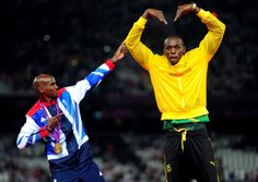 Mo Farah and Usain Bolt at London 2012. Picture: Adam Davy/PA Wire