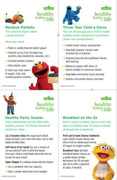 Print out these Sesame Street Healthy Habits Recipe cards for some fun and healthy meal and snack ideas to help your kids grow up healthy and strong!  Download and print your own for FREE at: www.sesamestreet.org/HealthyHabits.
