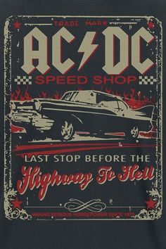 Retro Wallpaper Discover Highway To Hell - Speed Shop Bedroom Wall Collage, Photo Wall Collage, Bedroom Decor, Poster Wall, Poster Prints, Gig Poster, Canvas Poster, Desenio Posters, Rock Band Posters