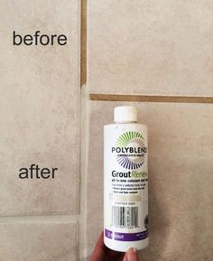 make grout look new and seal it in one step Cleaning Tile Grout Floors, Cleaning Bathroom Grout, Floor Grout Cleaner, Best Grout Cleaner, Clean Grout Lines, Clean Shower Tile Grout, Cleaning Shower Floor, Grout Stain, Clean Tile Floors