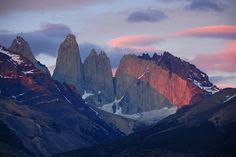 Las Torres, Patagonia Torres del Paine National Park, Chile #mountains #hiking #trekking