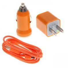 3 in 1 US-Standard-USB-Power-Car Adapter Auto Ladegerät für iPhone 4 3GS 3G 4S