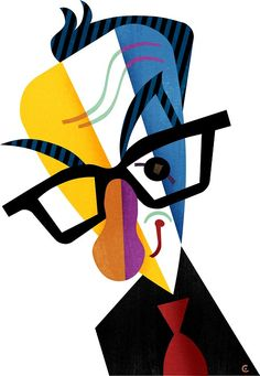 Elvis Costello illustration by David Cowles (Caricature) http://masterpaintingnow.com/how-to-draw-everything?hop=dunway