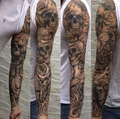 Tattoo sleeve skull