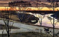 Charles Burchfield .November Dawn ,1926