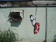 """Banksy  """"swinger"""" new orleans"""