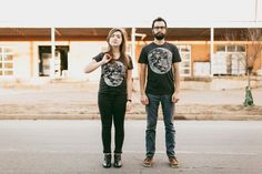 His and hers Moon t-shirt gift sets - Valentine's gift for couples
