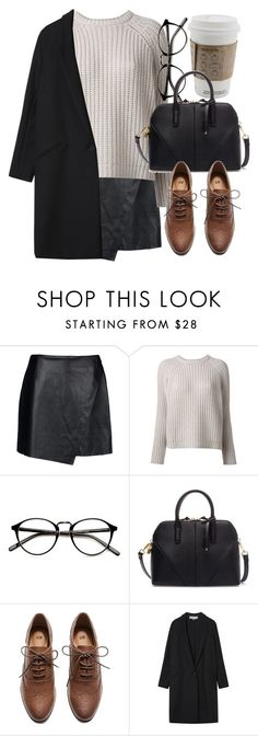 """""""Untitled #4942"""" by laurenmboot ❤ liked on Polyvore featuring moda, Helmut Lang, Brunello Cucinelli, Zara, H&M i Gérard Darel"""