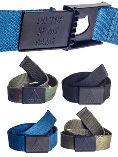 New & stylish Top Gun belts, with a cap opener!
