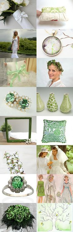 Green Wedding by Alma on Etsy--Pinned with TreasuryPin.com