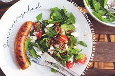 Summer salad with feta cheese and soyroasted sunflower seeds via. acie.dk :)
