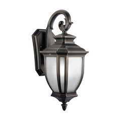 """Buy the Kichler 9040BK Black Direct. Shop for the Kichler 9040BK Black Salisbury Collection 1 Light 19"""" Outdoor Wall Light and save."""