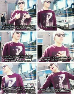 Nathan talks about getting stopped by security at Seattle Airport while wearing Family Guy PJs... I love him so much