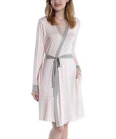Pink & Gray Geometric Robe