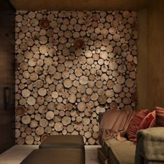 main wall See how the background is painted dark before installing wood slices and the edges are trimmed to fit the wall–dont overhang the edge is creative inspiration for us. Get more photo about home decor related with by looking at photos gallery at the bottom of this page. We …