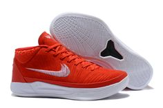 c604732af93a2 Nike Kobe A.D. Mid EP Red White Men s Basketball Shoes
