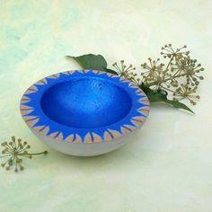Deko-Objekte - Schale Beton blau, Schale Beton Blau - ein Designerstück von KIMAMA-design-Andrea-Abraham bei DaWanda